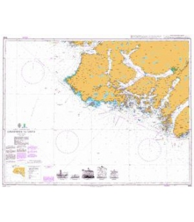 British Admiralty Nautical Chart 3535 Lindesnes to Lista