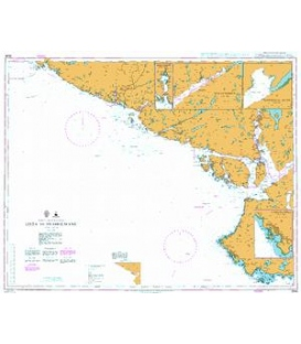 British Admiralty Nautical Chart 3536 Lista to Svaholmane