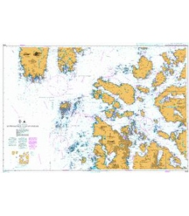 British Admiralty Nautical Chart 3539 Approaches to Stavanger