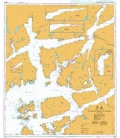 British Admiralty Nautical Chart 3540 Approaches to Sauda