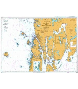 British Admiralty Nautical Chart 3546 Karmsundet to Ryvarden and Skjoldafjorden
