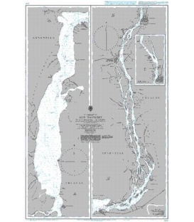 British Admiralty Nautical Chart 3549 Rio Uruguay - Nueva Palmira to Colon