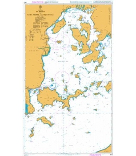 British Admiralty Nautical Chart 3602 Ya Shima to Naka Shima and Hiroshima