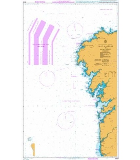British Admiralty Nautical Chart 3633 Islas Sisargas to Montedor