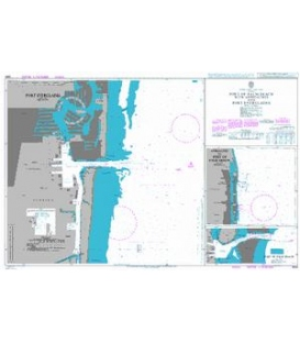 British Admiralty Nautical Chart 3684 Port of Palm Beach with Approaches and Port Everglades