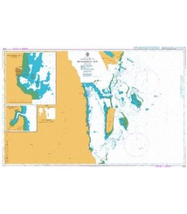 British Admiralty Nautical Chart 3722 Approaches to Muhammad Qol