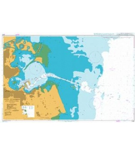 British Admiralty Nautical Chart 3782 Doha (Ad Dawhah) and Approaches
