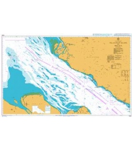 British Admiralty Nautical Chart 3946 Pelabuhan Klang to Melaka