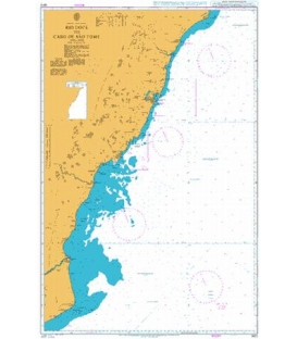 British Admiralty Nautical Chart 3972 Rio Doce to Cabo de Sao Tome