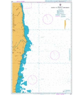 British Admiralty Nautical Chart 3974 Ilheus to Ponta Corumbau