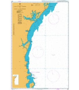 British Admiralty Nautical Chart 3981 Ilha de Bom Abrigo to Ilha do Arvoredo