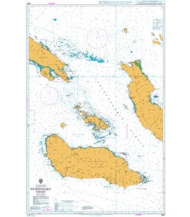 British Admiralty Nautical Chart 3997 Indispensable Strait