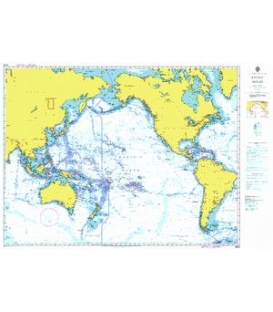 British Admiralty Nautical Chart 4002 A Planning Chart for the Pacific Ocean
