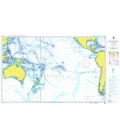 British Admiralty Nautical Chart 4007 A Planning Chart for the South Pacific Ocean