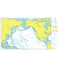 British Admiralty Nautical Chart 4008 A Planning Chart for the North Pacific Ocean