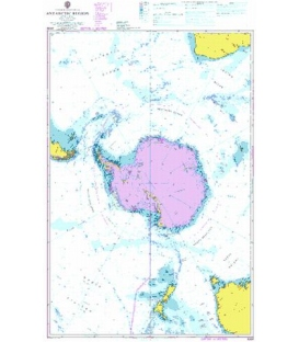 British Admiralty Nautical Chart 4009 A Planning Chart for the Antarctic Region