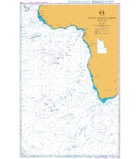 British Admiralty Nautical Chart 4021 South Atlantic Ocean Eastern Part