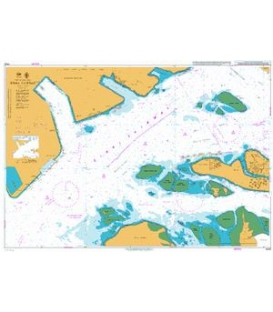 British Admiralty Nautical Chart 4032 Sinki Fairway
