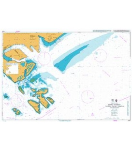 British Admiralty Nautical Chart 4037 Keppel Harbour, Tanjong Pagar Terminal and Approaches
