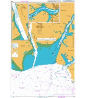 British Admiralty Nautical Chart 4038 Johor Strait Western Part