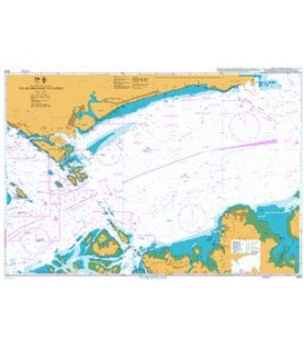 British Admiralty Nautical Chart 4041 Pulau Sebarok to Changi