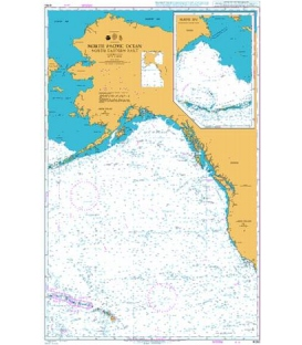 British Admiralty Nautical Chart 4050 North Pacific Ocean North Eastern Part