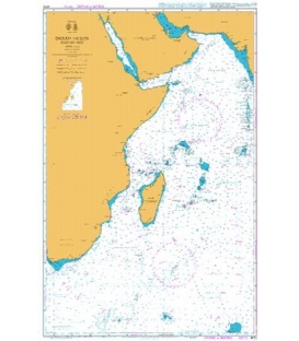 British Admiralty Nautical Chart 4072 Indian Ocean Western Part