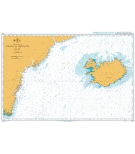 British Admiralty Nautical Chart 4112 Iceland to Greenland