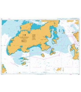 British Admiralty Nautical Chart 4129 South Western Approaches