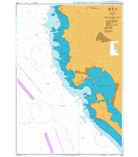 British Admiralty Nautical Chart 4145 Approaches to Saldanha Bay