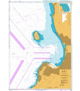 British Admiralty Nautical Chart 4148 Approaches to Table Bay