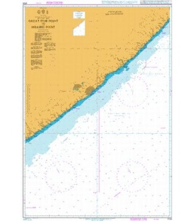 British Admiralty Nautical Chart 4159 Great Fish Point to Mbashe Point