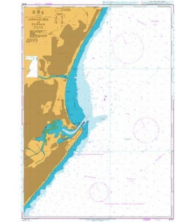 British Admiralty Nautical Chart 4170 Approaches to Durban
