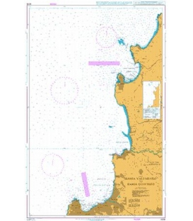 British Admiralty Nautical Chart 4238 Bahia Valparaiso to Bahia Quintero