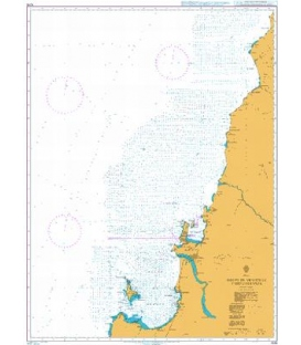 British Admiralty Nautical Chart 4246 Golfo de Arauco to Cabo Carranza