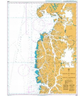 British Admiralty Nautical Chart 4258 Golfo de Penas to Golfo Trinidad
