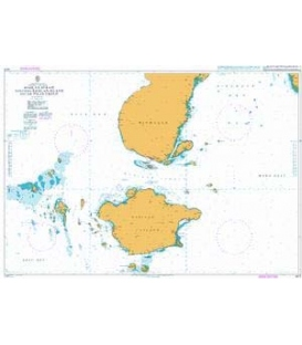 British Admiralty Nautical Chart 4470 Basilan Strait including Basilan Island and the Pilas Group