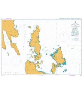 British Admiralty Nautical Chart 4475 Surigao Strait and Dinagat Sound