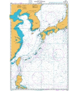 British Admiralty Nautical Chart 4509 Western Portion of Japan