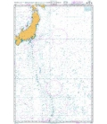 British Admiralty Nautical Chart 4510 Eastern Portion of Japan