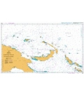 British Admiralty Nautical Chart 4622 Admiralty Islands to Solomon Islands