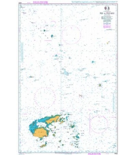British Admiralty Nautical Chart 4632 Fiji to Tuvalu