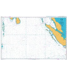 British Admiralty Nautical Chart 4707 Maldives to Sumatera