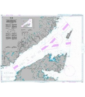 British Admiralty Nautical Chart 4735 Strait of Belle Isle / Detroit de Belle Isle