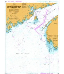 British Admiralty Nautical Chart 4746 Approaches to/Approches a Bay of Fundy/Baie de Fundy