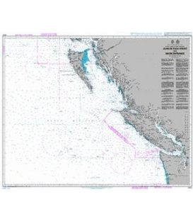 British Admiralty Nautical Chart 4920 Juan de Fuca Strait to / A Dixon Entrance