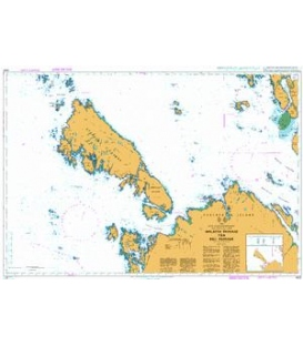 British Admiralty Nautical Chart 4935 Malacca Passage to / a Bell Passage