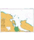 British Admiralty Nautical Chart 4957 Approaches to/Approches a Nanaimo Harbour