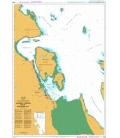 British Admiralty Nautical Chart 4958 Nanaimo Harbour and/et Departure Bay
