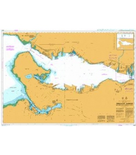 British Admiralty Nautical Chart 4963 Vancouver Harbour,Western Portion/Partie Ouest